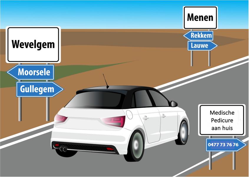 car Wevelgem Menen